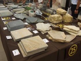 多様な種類の石材