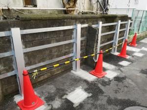 ブロック塀補強鉄骨 FITパワーを使用