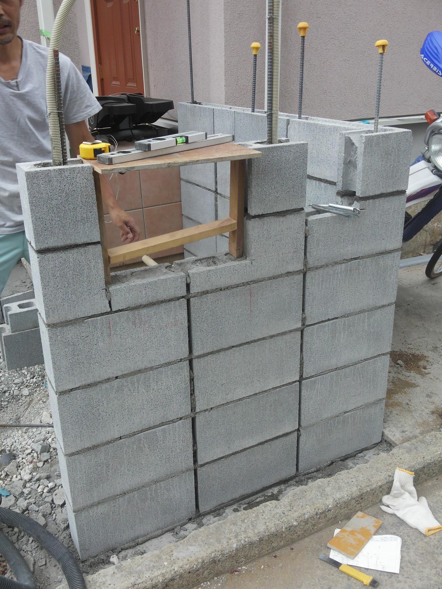 門壁ブロック積み 横浜市 M様邸 エクステリア工事