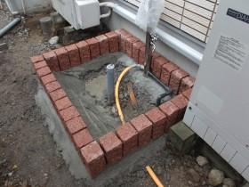 立水栓周りのピンコロ