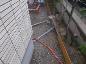 立水栓周りのコンクリート下地