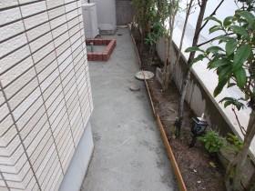 立水栓周りのコンクリート打ち