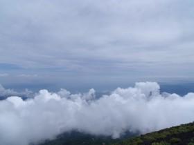 7合目より駿河湾を眺める 富士登山