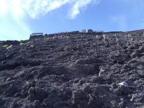 もうすぐ八合目 富士登山