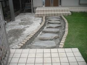 ピンコロ設置・踏み石設置