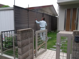 既存フェンスの撤去