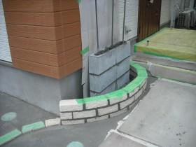 門壁ブロック積