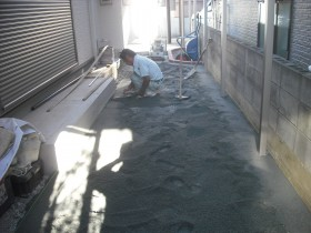 インターロッキング敷き砂