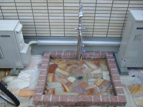 ペット兼用オリジナルシャワー立水栓