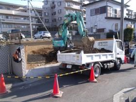 掘削、積み込み