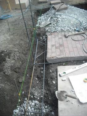 ブロック基礎鉄筋組み