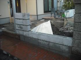 側面ブロック積み