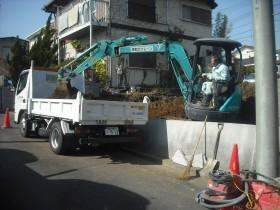 掘削土積み込み