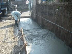コンクリートの打設