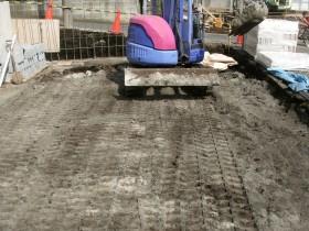 駐車場の地盤改良