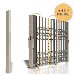 エバーアートゲート 支柱間で開閉可能
