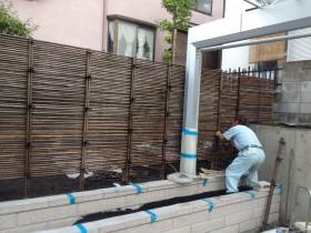 竹製みすがきの移設