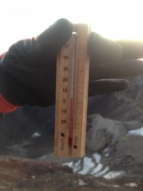富士山の気温