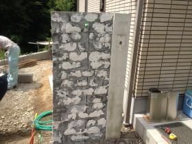 門壁石材の撤去