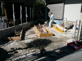 駐車場 路盤 砕石敷き